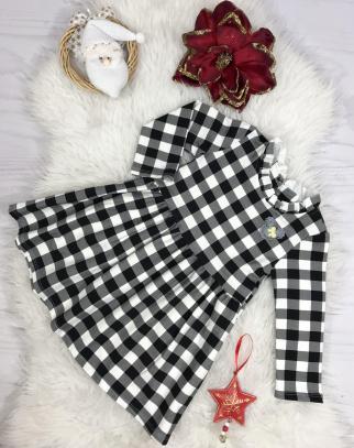 Sukienka kratka - kolor biało-czarny
