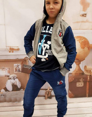 Komplet bluza + spodnie a'la jeans - type 2