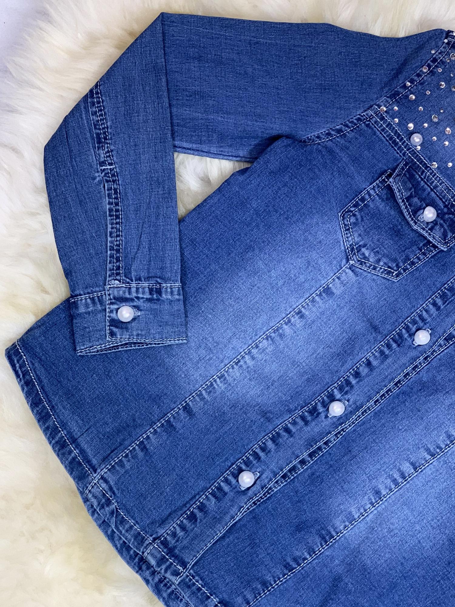 Koszula jeansowa Deynn z perełkami cudo vanilove.pl  RyG2D
