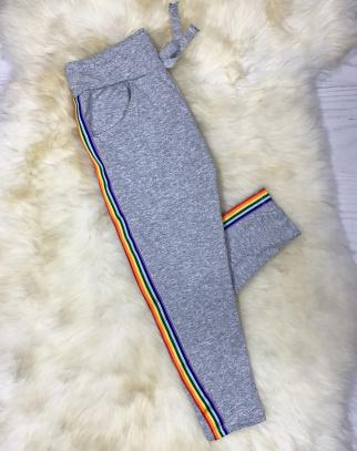 Spodnie dresowe PARIS - kolor szary- HIT