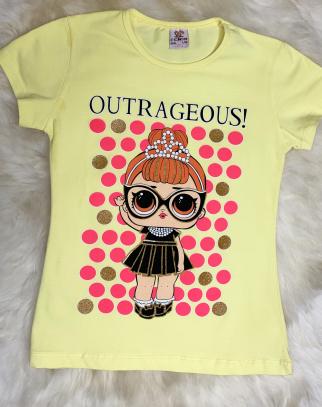 Bluzka z lalką LOL groszki - Cytrynka