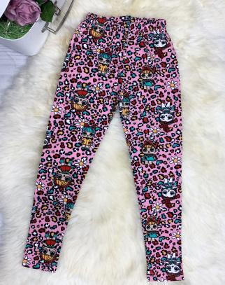 Bawełniane getry/legginsy LOL - kolor panterka