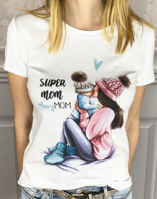 Bluzka Mama&SYN Super MoM - dla Mamy