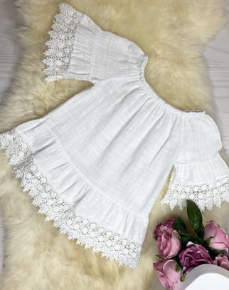 Bluzka/Tunika BOHO LUX - biały