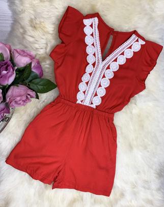Kombinezon Malibu - kolor czerwony