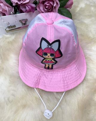 Kapelusz materiałowy - LOL - kolor różowy