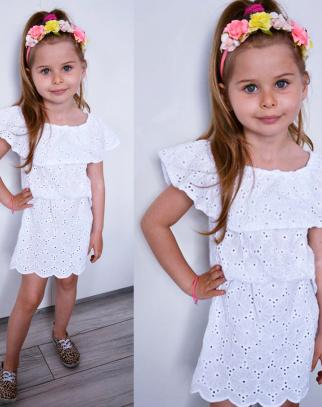 Sukienka hiszpanka BOHO LUX - biały