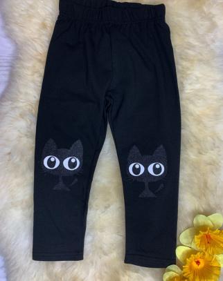Legginsy Cat's Eyes - kolor czarny