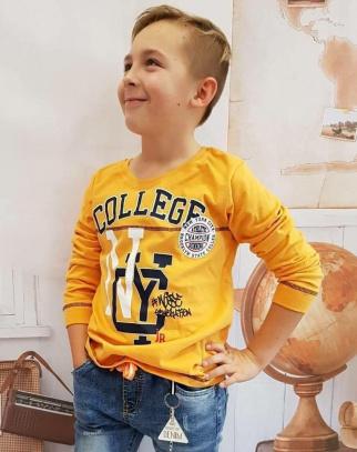 Bluzka chłopięca Breeze - kolor musztardowy