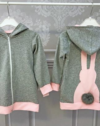 Bluza króliczek z ogonkiem - kolor szary
