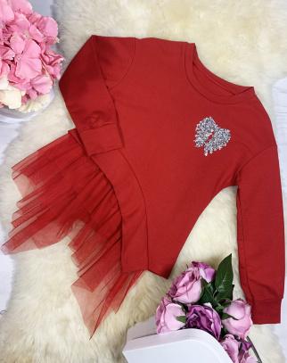 Bluza Angel Wings - kolor czerwony