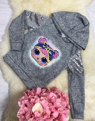 Sweterek/Bluza Lol - szary