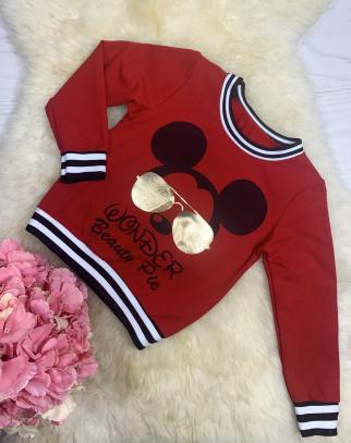 Bluza Mickey Sunglasses - Czerwona