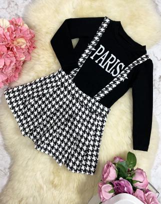 Sukienka Paris Pepitka - Czarny