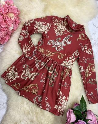 Sukienka Orient - Bordo