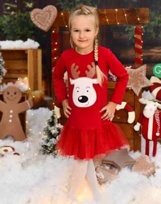 Sukienka Reniferek - czerwony Christmas Collection