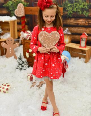 Sukienka Stars - czerwony Christmas Collection