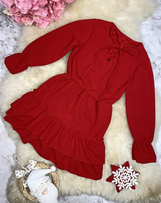 Sukienka Mercy - kolor czerwony