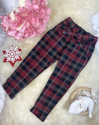 Spodnie Becca modna krata