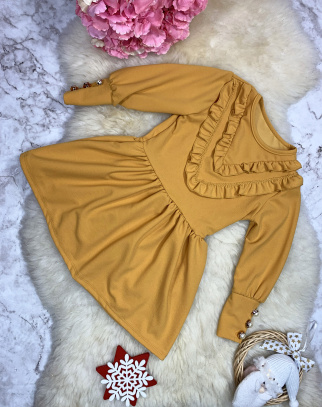 Sukienka Rosalia - kolor miodowy