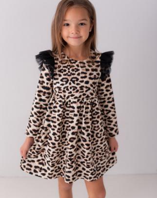 Premium Bawełna Sukienka Panterka