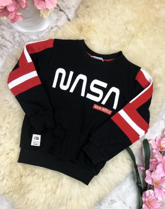Bluza chłopięca Nasa - Czarny + Czerwony
