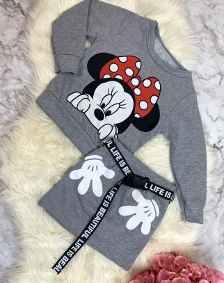 Komplet Bluza + Spódnica Minnie Grey