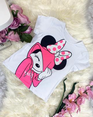 T-shirt Minnie White