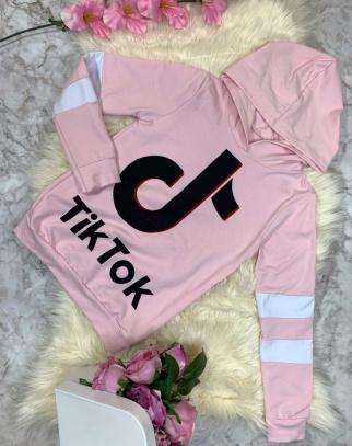 Bluza Tik Tok z kapturem Pink