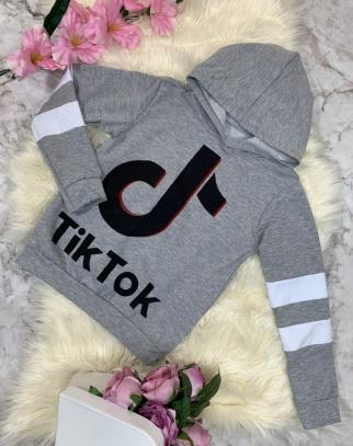 Bluza Tik Tok z kapturem Grey