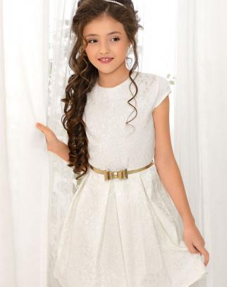 Sukienka Princess Ornament - Ecru