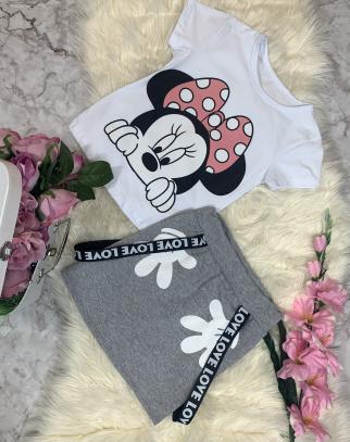 Komplet Bluzka + Spódnica Mouse - Grey