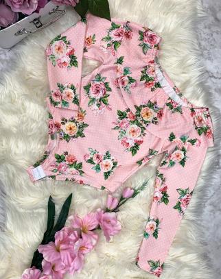 Bluzka Body Flowers - Różowy