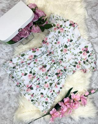 Sukienka Summer Flowers - Biel