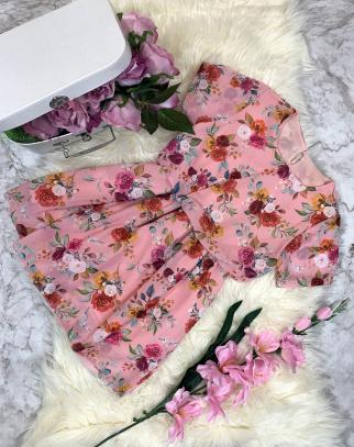 Sukienka Summer Flowers - Róż