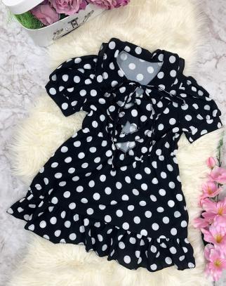 Sukienka Debby w groszki - Czarny