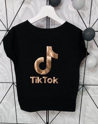 Bluzka Tik Tok Holo Black