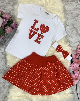 Komplet Love Red-White