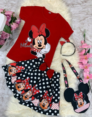 Komplet Mickey Mouse ze spódniczką