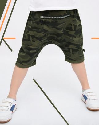 Spodnie Baggy z kieszonką- moro