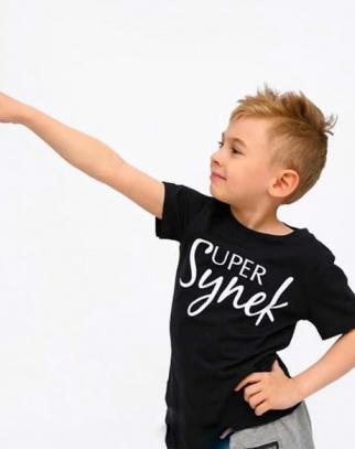 T-shirt Super Synek- czerń