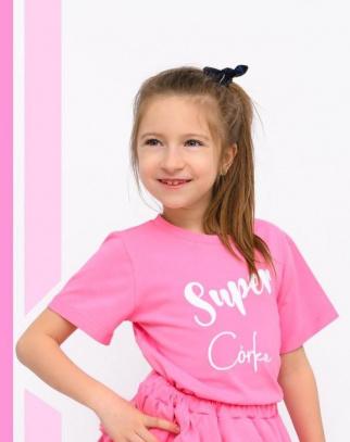 Bluzka Super Córka-Różowy