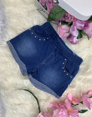 Krótkie spodenki a'la jeans