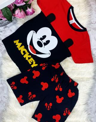 Komplet Myszka Mickey - czerwony