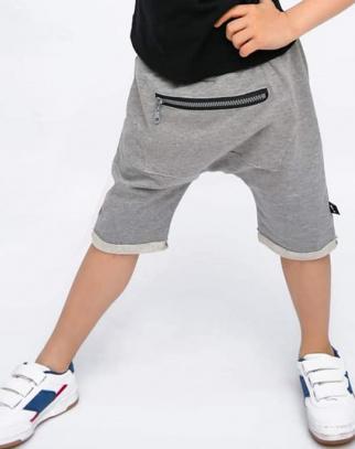 Spodnie Baggy z kieszonką- szary