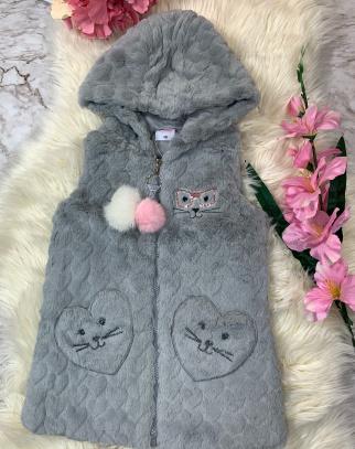 Kamizelka Funny Cat- Grey