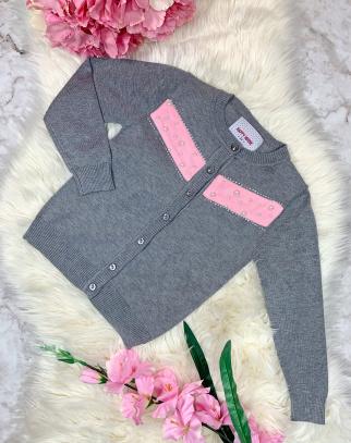 Sweterek Pearls Grey