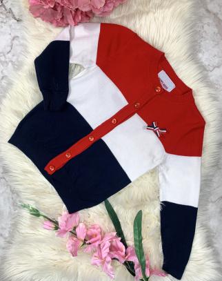 Sweterek Paski Red