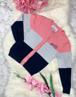 Sweterek Paski Pink