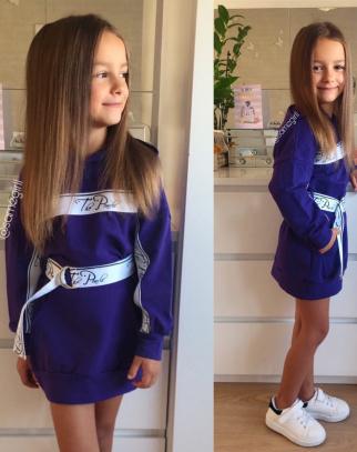 Sukienka/Tunika/Bluza Glamour Dark Violet